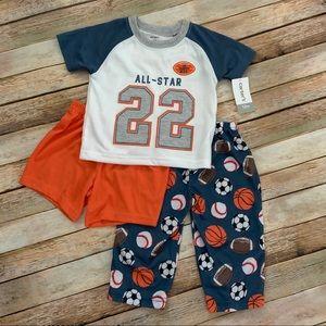🏀🏈NWT Carter's 3pc All-Star Pajama Set⚾️⚽️